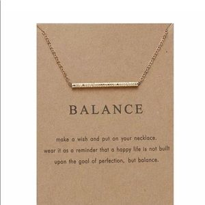 BALANCE MAKE A WISH NECKLACE NEW IN PACKAGE